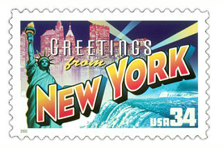 Official New York state stamp.