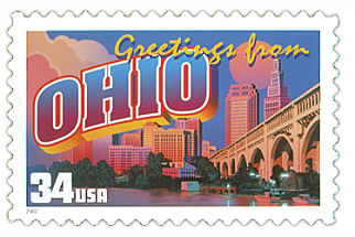 34 cent Ohio state stamp.