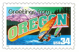 Official Oregon state stamp.