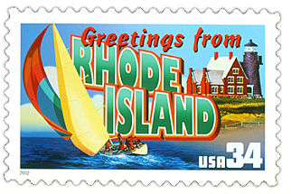 Official Rhode Island state stamp.