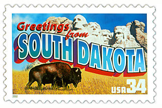 Official South Dakota state stamp.