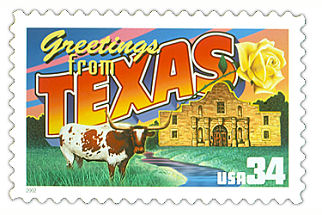 Official Texas state stamp.