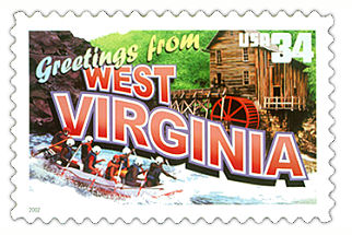 Official West Virginia state stamp.