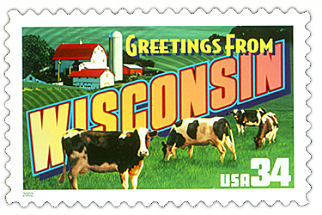 Official Wisconsin state stamp.